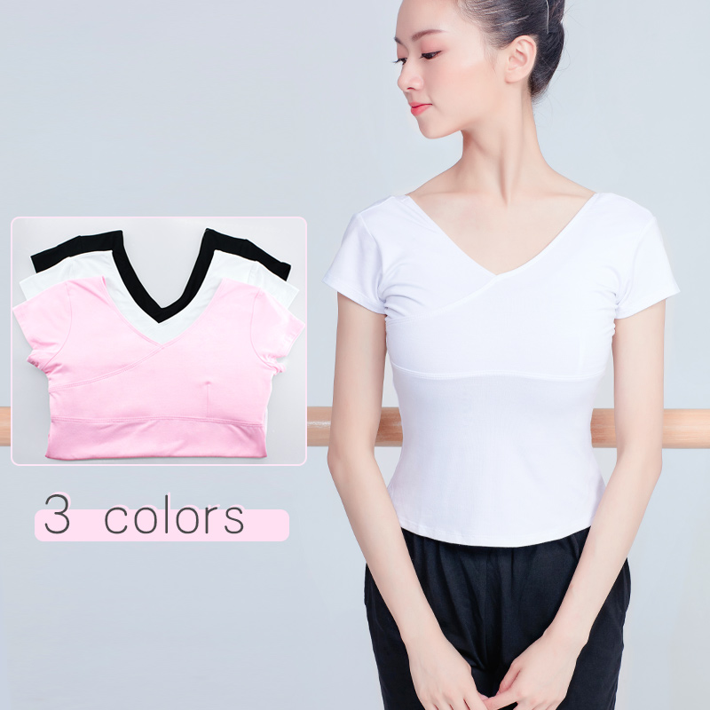 56ee8d8171e 3 Colors Cotton Short Sleeve Ballet Top T Shirt Women Slim Shirt For Gym  Fitness Breathable Solid Clothes Ballet Dance Wear-in Ballet from Novelty    Special ...