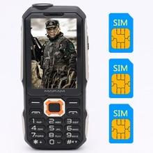 """MAFAM M3 Trīs SIM kartes 2,4 """"3 SIM karte 3 gaidīšanas mobilais tālrunis Zibspuldze Power Bank iekasē krievu tastatūru Mobilais P181"""