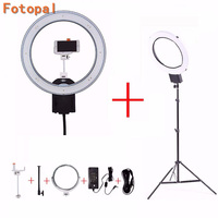 NanGuang CN R640 LED Camera Photo Studio Phone Video LED Ring Light 5600K Photography Dimmable Annular Lamp Tripods For YouTube