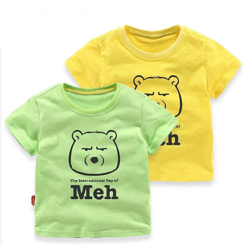 2018 Brand Cute Boys Short Sleeve T Shirt Tops Kids T Shirt Designer Toddler Baby Boys T Shirts Tops Short Sleeve Cotton Tee