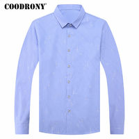 COODRONY Shirt Men 2018 Spring Summer New Arrival Camisa Social Masculina Long Sleeve Cotton Casual Shirts