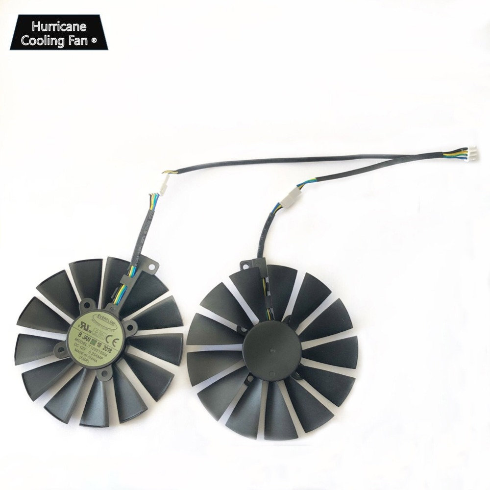 Image 5 - 95MM T129215SM 4Pin 12V Graphics Card Fan for ASUS STRIX GTX 1050 1050Ti 1070Ti 1080Ti RX 470 570 580 RX470 RX570 RX580 Cooler-in Fans & Cooling from Computer & Office