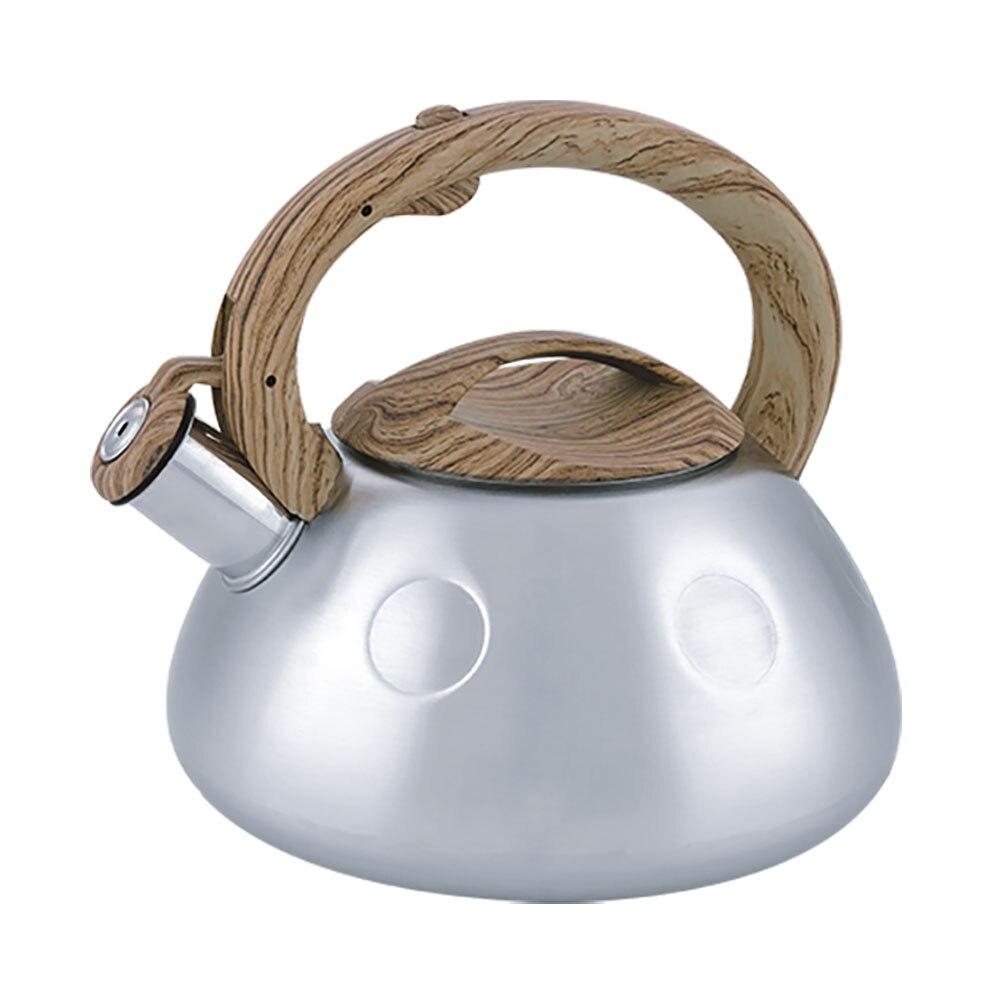 3L acier inoxydable manche bois sifflement bouilloire bouilloires Induction cuisinière à gaz thé eau Pot maison cuisine