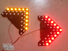 2 Amber SMD LED Arrow Panel Sequential Car Side Mirror Turn Signal Blinker Light