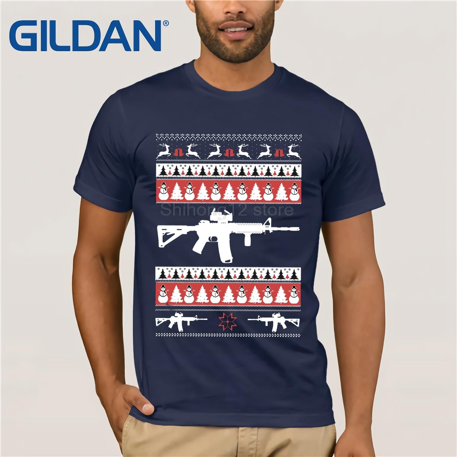 4893ee5bc22 gildan t shirt 2018 fashion men t shirt gildan ar 15 ar15 ugly christmas  sweater xmas