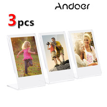 Andoer acrílico photo frame transparente suporte photo frame para fujifilm instax mini 8 + 70 7s 90 25 26 50s SP-1 SP-2 photo frame