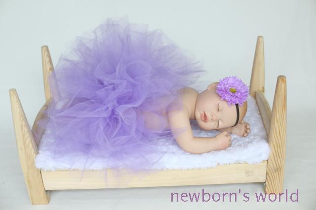 Luz de la venda púrpura + tutú de la falda, niño recién nacido bebé fotografía atrezzo Pink Tutu Tutu - bebé - se adapta a 0-24 Months1644
