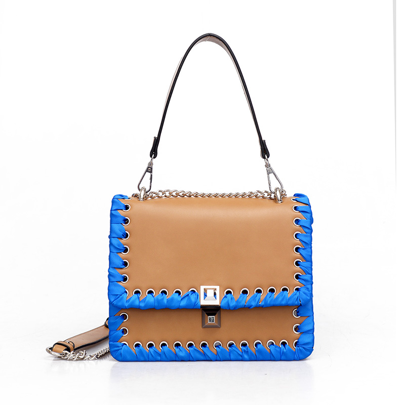ФОТО New Fashion Famous Designers Brand Small Handbags Women Woven Fabric Chain Leather Shoulder Bags Daily Handbag Bolsa Femininas