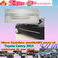 Free Shipping For Toyota Camry 2015 Car Styling Cover Detector Stainless Steel Side Door Body Trim