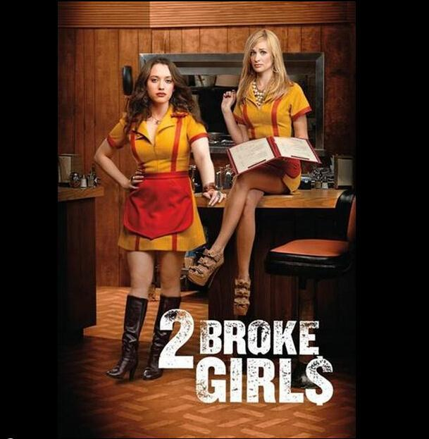 New Arrival 2 Broke Girls Same Dress Max Caroline Waitress Uniforms  Ladies Cosplay Costume for Masquerade Party