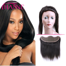 Hanne 7A Brazilian Lace Frontal Closure 13X4 Ear to Ear Human Hair with Frontal Closure Virgin Peruvian Straight Frontal Closure