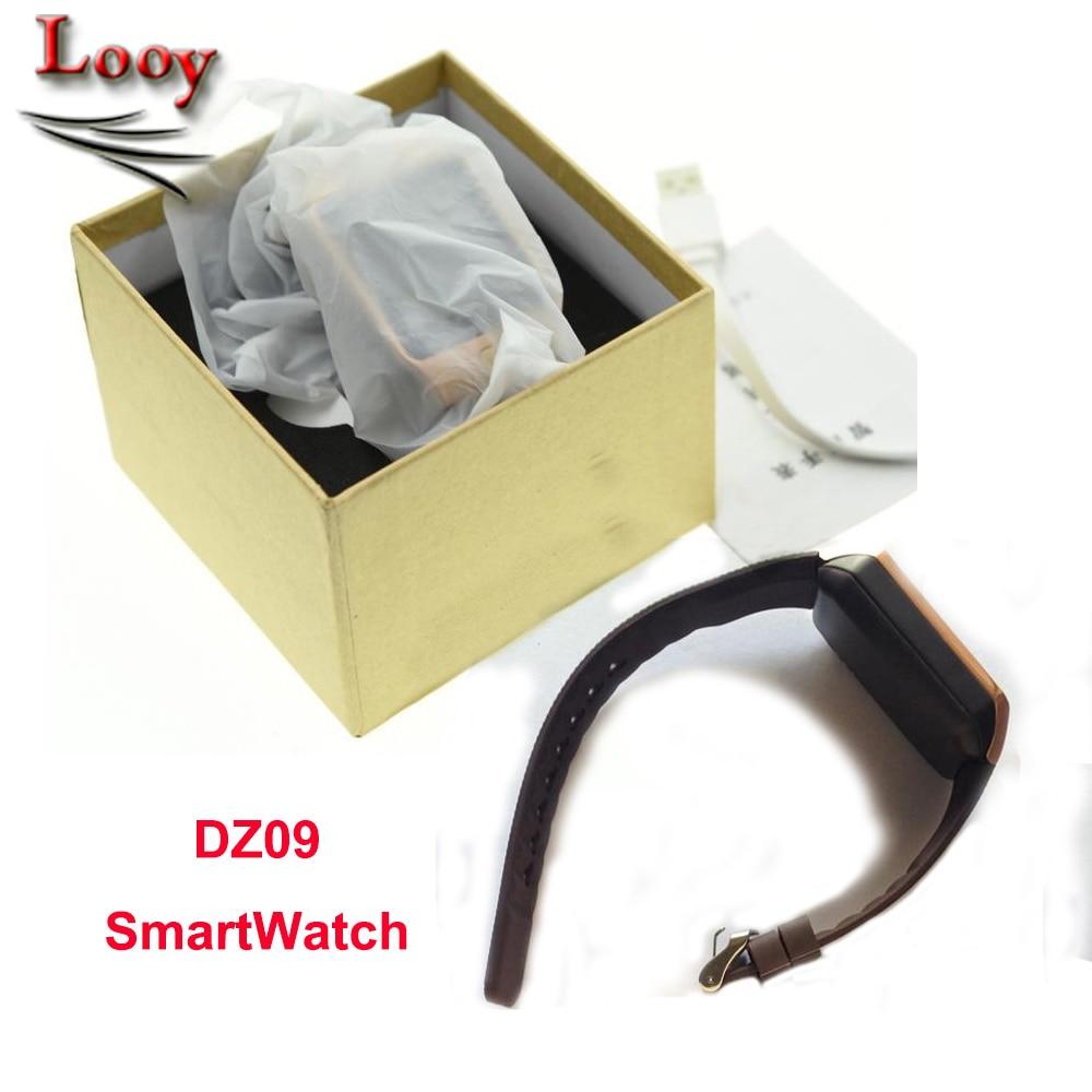 imágenes para Dz09 teléfono bluetooth smart watch para ios android samsung iphone apoyo smi/tf hombres mujeres reloj deportivo