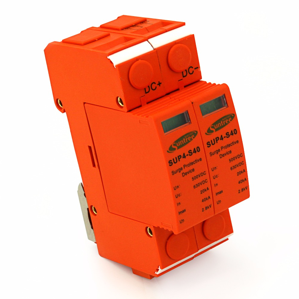 SSPD Surge Protector DC 500V 20KA/2P Under Voltage Over Voltage Protector for PV System II Classified Test 2P Pole High Quality classified peterborough
