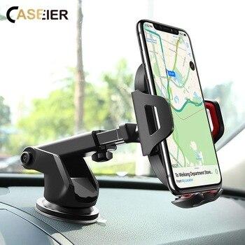 CASEIER הצמדה לשמשת רכב מחזיק טלפון ברכב עבור iPhone X 360 סיבוב רכב מחזיק עבור Samsung S9 S8 בתוספת טלפון נייד Stand