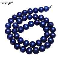9-10mm Blu Scuro Perle Sciolti Uomini Gioelleria raffinata e alla moda Accessroies di Patate Coltivate D'acqua Dolce Branelli Della Perla Per Circa 15 Pollici filo
