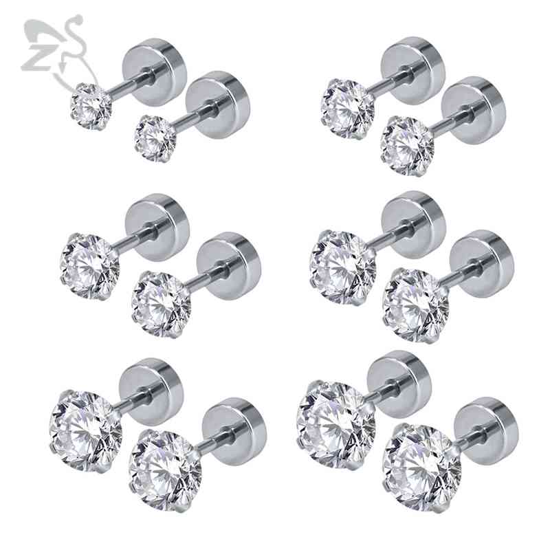 By JADA Collections 5 Pairs Tropical Fruit Pineapple Apple Flower Silver Tone Stud Earrings Set