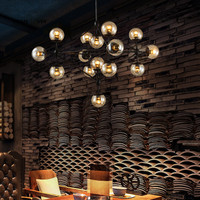 Retro Loft Vintage Industrial Bean Suspension Luminaire Pendant Lights Black Brown Bar Living Room Hanging Pendant