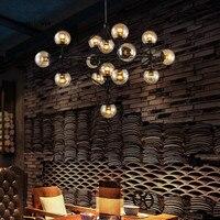 Retro Loft vintage industrial bean suspension luminaire pendant lights black brown bar living room hanging pendant lamp fixtures