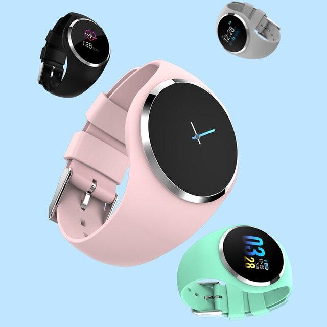 395a36a9ec41 Mujer Fitness Reloj inteligente mujeres corriendo Reloj Monitor de ritmo  cardíaco podómetro de Bluetooth táctil inteligente. Sitúa el cursor encima  para ...