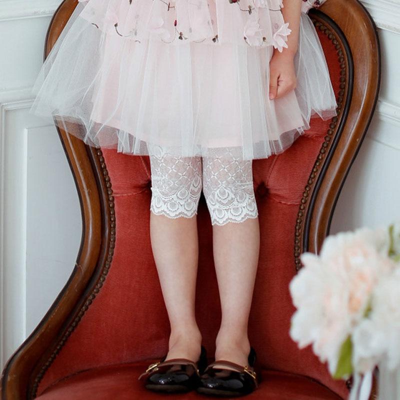 Girl Leggings Children Cotton Lace Summer Girl Leggings For Kids