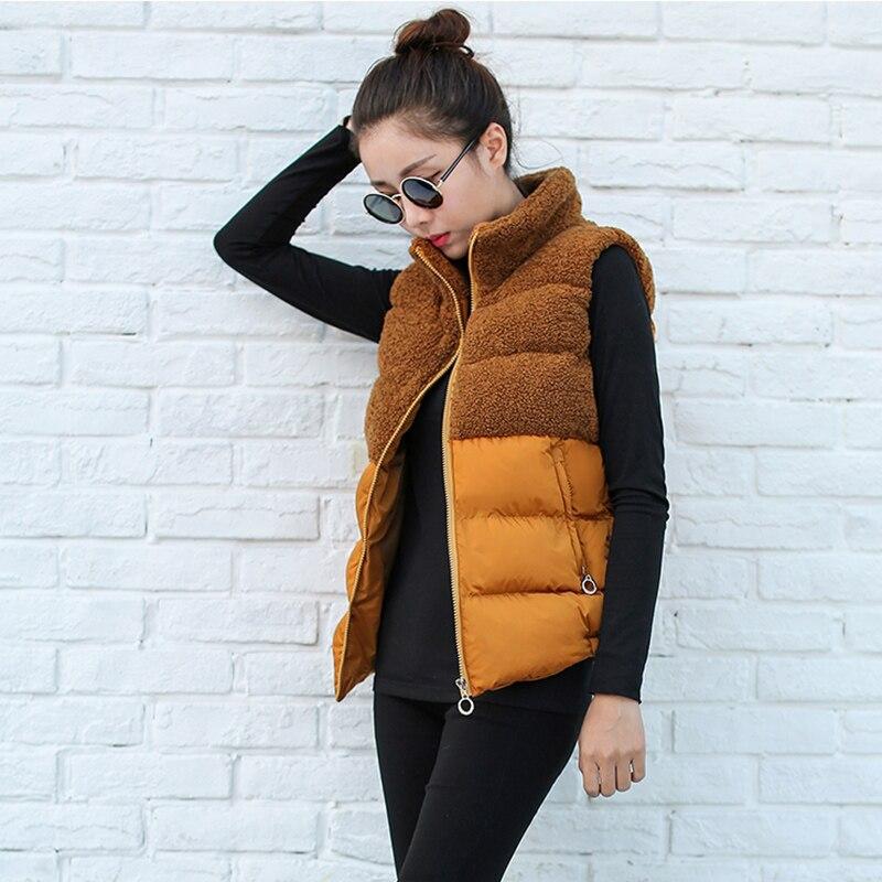 Hiver 2017 Femmes Black Bas Automne Gilet Le gray red Étudiant Casual Coréen Vêtements Courtes En camel Vers Coton Cachemire 88r5qSw