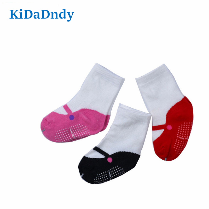 KiDaDndy Boys And Girls Ballet Socks Winter Christmas Gifts Baby Socks Tube Socks 0-2 Years Old CMC119