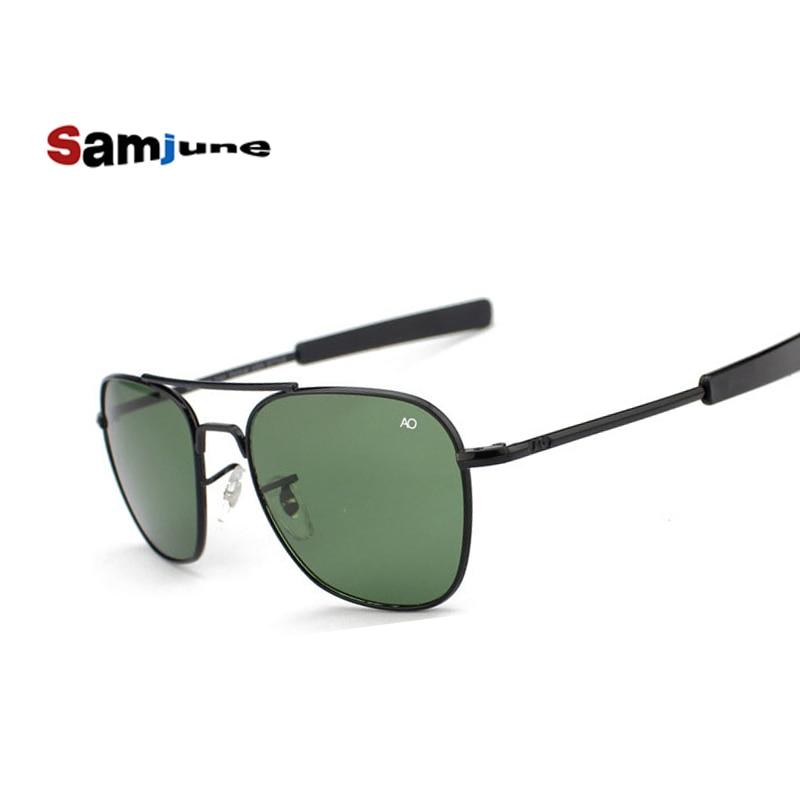 Samjune Mode Aviation Sunglasses Pria Merek Designer AO Kacamata - Aksesori pakaian - Foto 2