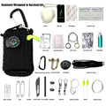 self defense to survive 29-one survival kit outdoor survival kit survival plug wire saw Umbrella rope hand playing poker