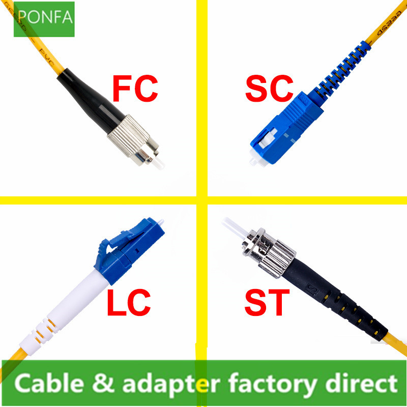 SC To SC LC To LC ST To ST FC To FC Fiber Patch Cord Jumper Cable SM Simplex Single Mode Optic For Network 3m 5m 10m 20m 30m 50m