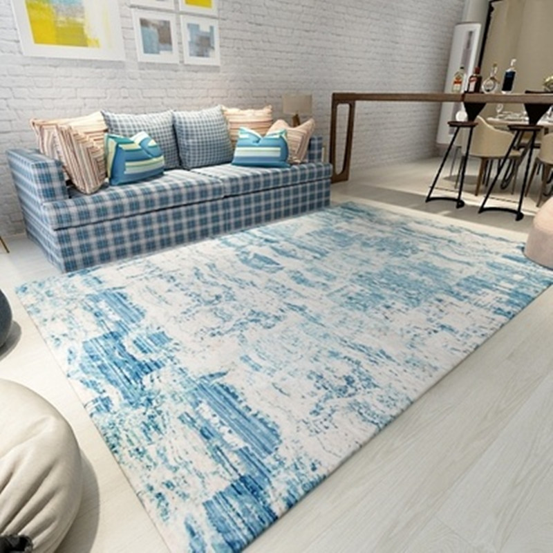 European style grey color stripe Area rugs bedroom Mat Non slip Floor Rug super soft Decorative Carpet for living room in Carpet from Home Garden