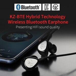 Image 3 - KZ BTE 1DD + 1BA APTX Tai Nghe Nhét Tai Thể Thao Bluetooth/Không Dây Tai Nghe HIFI Bass Tai Nghe Nhét Tai dành cho điện thoại và âm nhạc tai nghe