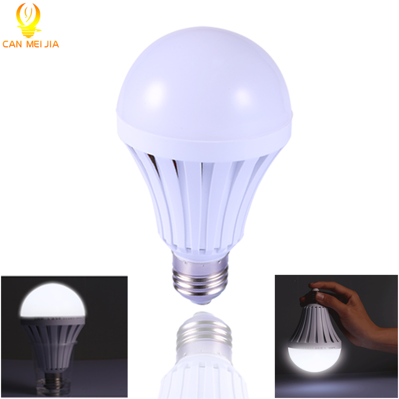 Intelligent E27 LED Bulb Energy Saving Emergency Rechargeable Led Lamps 5W 7W 9W 12W B22 Led Lights Household Outdoor Lighting energy efficient 7w e27 3014smd 72led corn bulbs led lamps