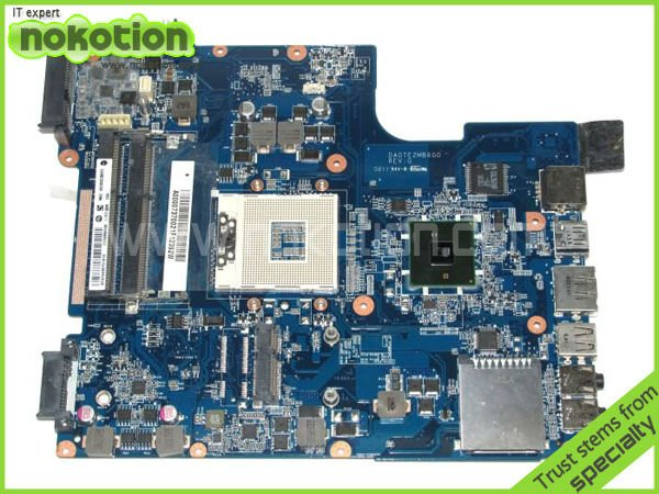 NOKOTION A000073700 laptop motherboard for TOSHIBA Satellite L640 L645 main board DA0TE2MB6G0 INTEL HM55 GMA HD DDR3 nokotion for toshiba satellite c850d c855d laptop motherboard hd 7520g ddr3 mainboard 1310a2492002 sps v000275280