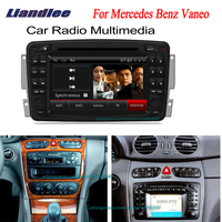 Liandlee 2 din Car Android GPS Navi Navigation Radio For Mercedes Benz Vaneo 2002~2005 TV CD DVD Player Audio Video Stereo OBD2