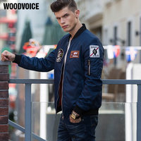 Woodvoice US Air Force Pilot Ma1 Bomber Flight Jacket Men Varsity Pilot Outerwear Male Army Green