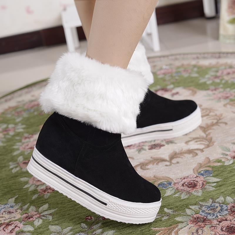 KarinLuna wholesale large size 34-43 Women Winter Boots Fashion Warm Fur plush Shoes Woman Platform Med-calf Snow Boots woman цены