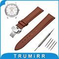 18mm 20mm 22mm 24mm genuíno relógio de couro banda para hamilton butterfly buckle strap correia de pulso pulseira marrom preto + primavera Bar