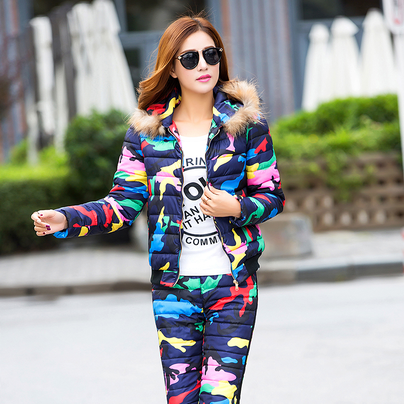 ALMUERK 2020  Women Sets   Winter Casual Pants And Top Suit Long Sleeve Star Print Pattern Personalized Design Female Sets