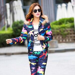 Almuerk 2020 conjuntos femininos inverno calças casuais e terno superior manga longa estrela padrão de impressão design personalizado conjuntos femininos