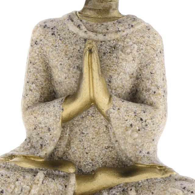 MagiDeal The Hue Sandstone Meditation Buddha Statue Sculpture Handmade Figurine Meditation Miniatures Ornament Statue Home D#3 5