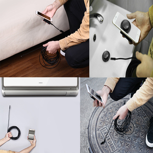 Image 4 - 8mm 1200P 2M 5M 10M Semi Rigied Wifi Endoscoop Inspectie Borescope Snake Video Flexibele camera Voor IOS Android Auto Detectie