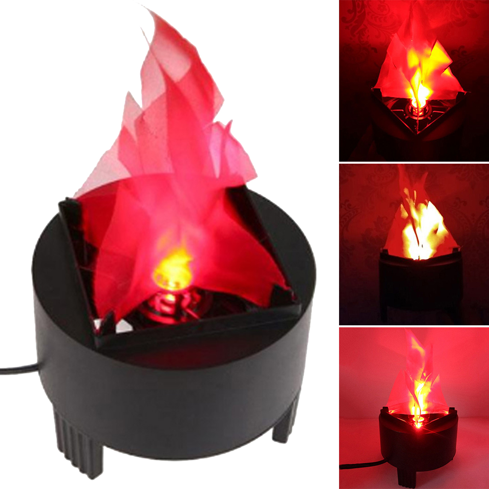 Decorative Bar Party Effect Lamp Pot Dynamic Fire Hanging Flame Light Atmosphere Realistic Safe Simulated Mini Led