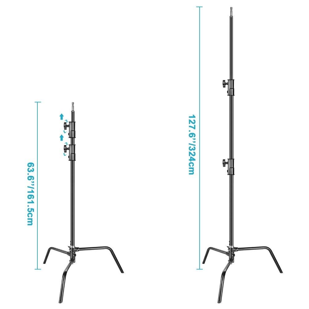 Neewer težko stojalo za svetlobo s snemljivim dnom 1,6-3,2 metra - Kamera in foto - Fotografija 3