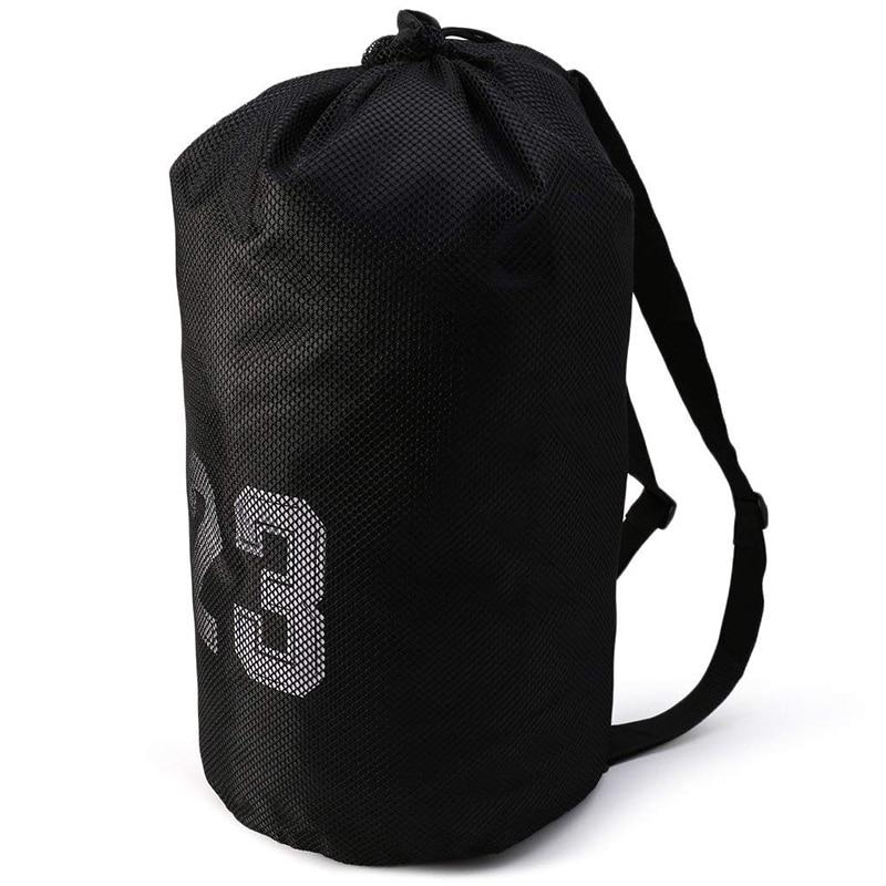 15995088d14 Outdoor Basketball Sports Bag Large Capacity Mesh Drawstring Bag Soccer  Training Backpack Shoulder Bag Basketball Bucket Bag-in Basketballs from  Sports ...
