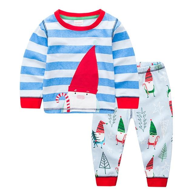 a7bd615f302d6 Nouveau pyjama de noël pour enfants pour garçons imprimé ensemble de pyjama  père noël 2-