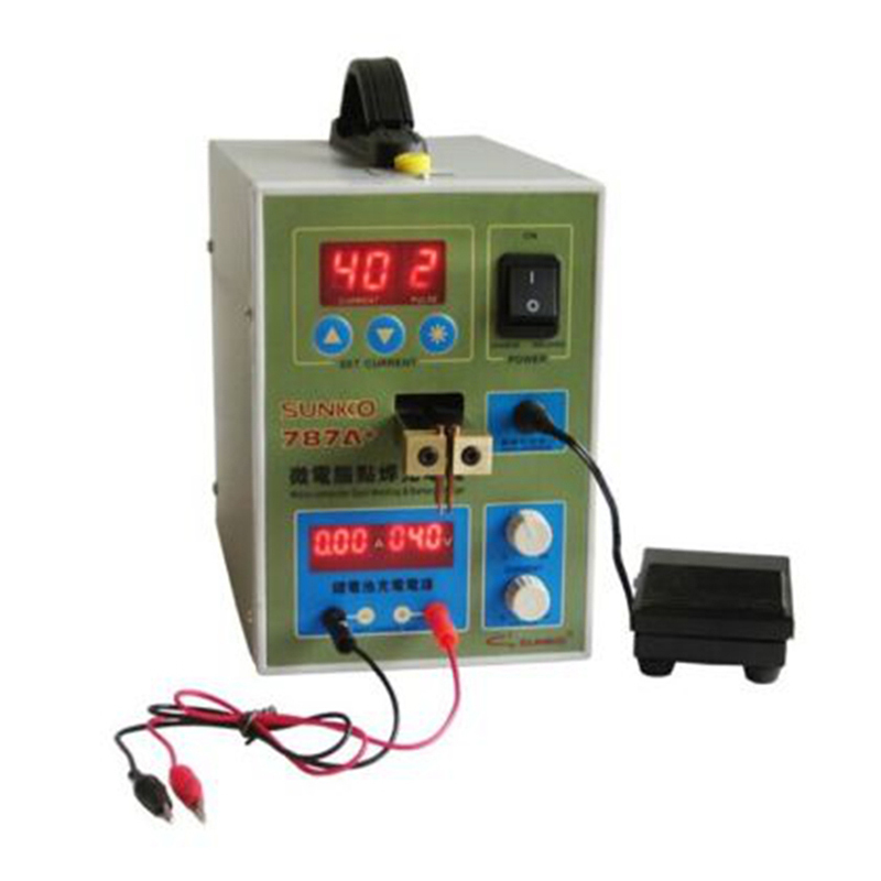 POWER 787A+ MCU Spot Welder Battery Welder Applicable Notebook and Phone Battery Precision Welding Pedal WIth Free Nickel Plates upgrade power 787a mcu spot welder battery welder applicable notebook and phone battery precision welding pedal