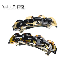 Women head wear cute hair clip leopard vintage barrettes  korean accessories for women
