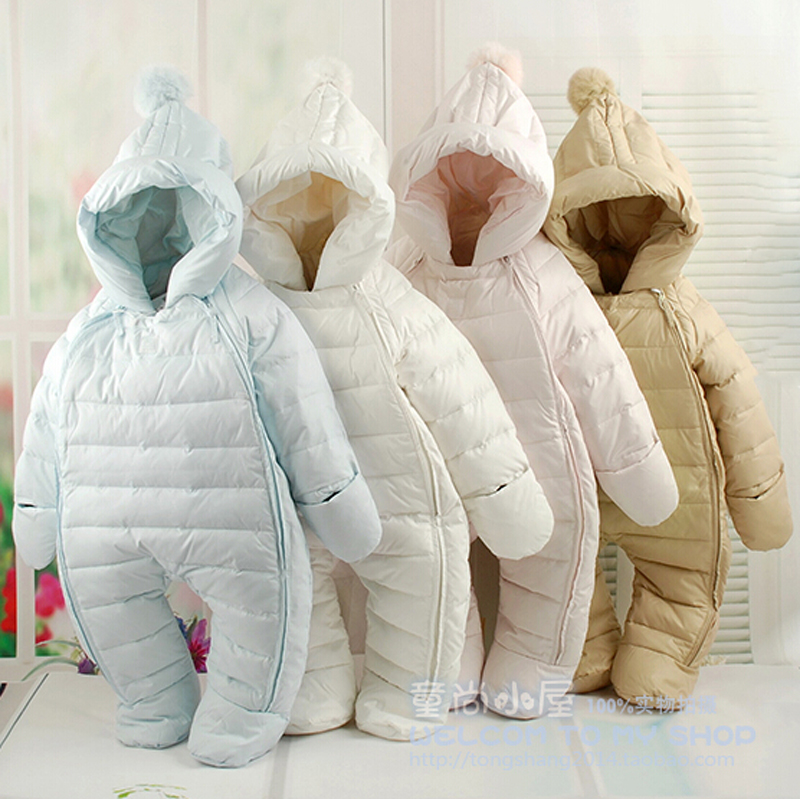 Russia winter! 2018 New style  newborn Duck down baby snowsuit  kids winter coveralls, warm jacket, infant girls boys  snowsuit russia winter boys girls down jacket boy girl warm thick duck down