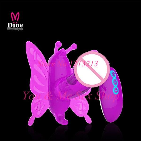 Buy Female G spot Clitoral Stimulation Sex Toys,Vibrating Panties Wireless Remote Control 2 Motor Butterfly Vibrator Strap Dildo