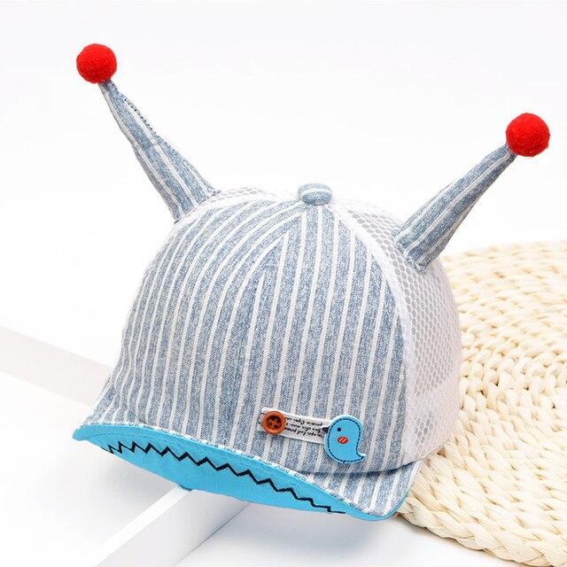 2018 Summer New Snail Modeling Children S Net Hat Soft Baby Hat Boys